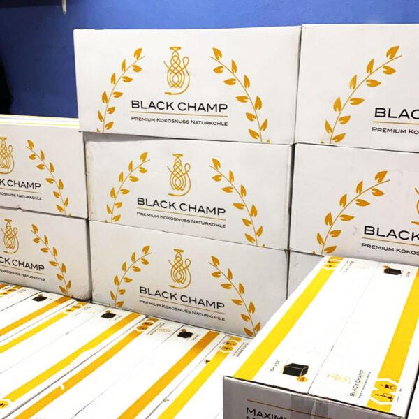 Black Champ Premium Naturkohle aus Kokosnuss für Shisha und BBQ / Grillen Großhandel